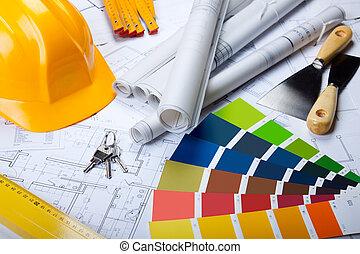 tervrajz, eszközök, építészet