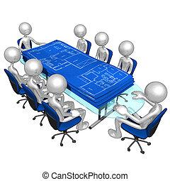 tervrajz, szerkesztés, gyűlés
