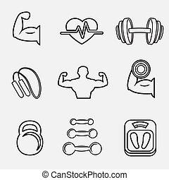 testépítés, sport, állhatatos, állóképesség, ikonok