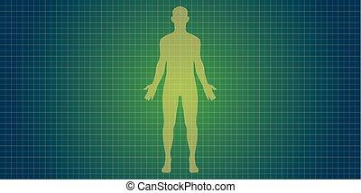 test, árnykép, emberi
