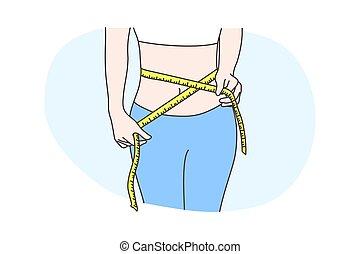 test, egészség, mérés, fogalom, diéta, törődik
