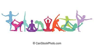 test, jóga, számolás, zenemű
