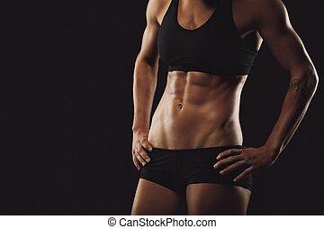 test, nő, blokkolásgátló, erős