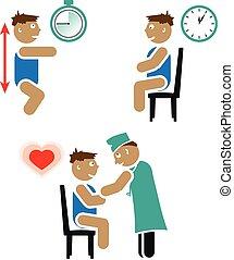 teszt, gyerekek, cardiovascular