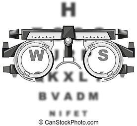 látás teszt asztal vektor clipart