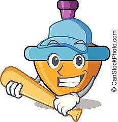 tető, betű, játék, fonás, baseball, karikatúra
