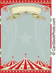 tető, cirkusz, nagy, retro