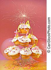 tető, cupcakes, gyémánt