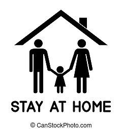 tető, -eik, alatt, család, boldog, house.