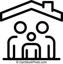 tető, mód, áttekintés, alatt, család, ikon