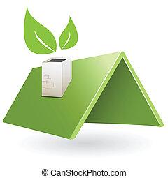 tető, zöld