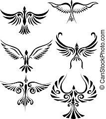 tetovál, birdd, törzsi