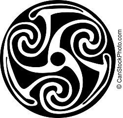 tetovál, celtic jelkép, -, artwork, vagy