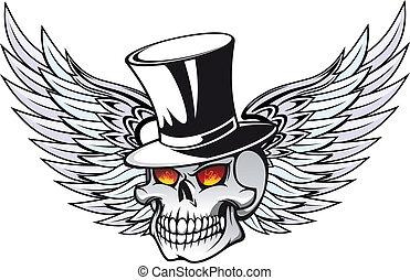 tetovál, halál, koponya