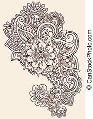 tetovál, hennabokor, tervezés, mehndi, szórakozottan firkálgat