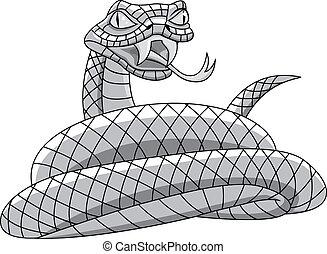 tetovál, kígyó