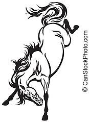 tetovál, ló, bakugrás