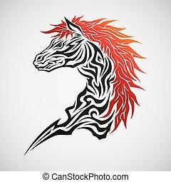tetovál, ló