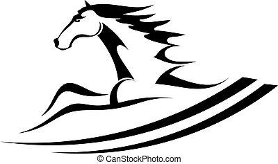 tetovál, ló, jelkép