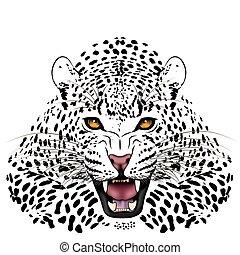 tetovál, leopárd