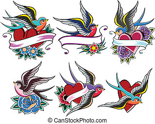 tetovál, madár