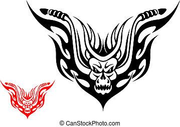 tetovál, motorkerékpár