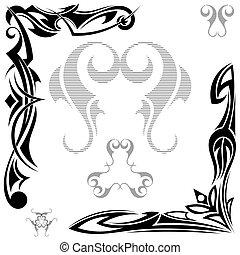 tetovál, törzsi, állhatatos, fekete, alapismeretek