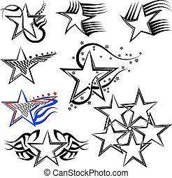 tetovál, tervezés, csillag
