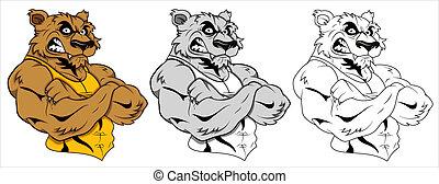 tetovál, vektor, farkas, kabala