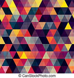 textur, háromszög, seamless, háttér