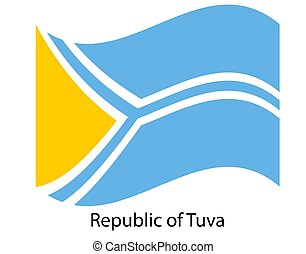 texture., jelkép, tuva, ábra, russia., fehér, legyőz, háttér, szövetségi, köztársaság, lobogó, nemzeti