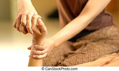 thai ember, masszázs, kéz