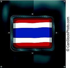thaiföld, metalic, lobogó, háttér