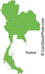 thaiföld, zöld térkép