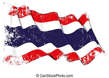 thailand lobogó, grunge