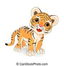 tiger, csinos