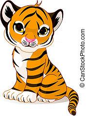 tiger, csinos, kölyök