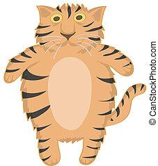 tiger, csinos, vektor