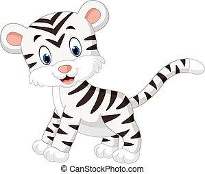 tiger, fehér