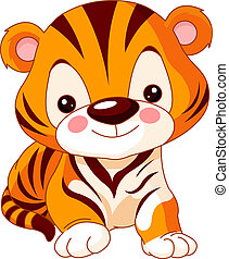 tiger, móka, zoo.