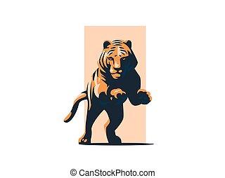 tiger, ugrás