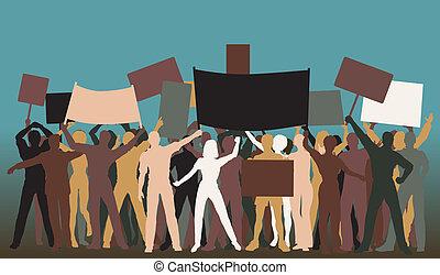 tiltakozás, csoport