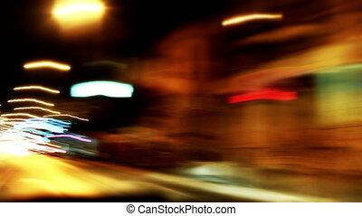 timelapse, forgalom, 4k, éjszaka