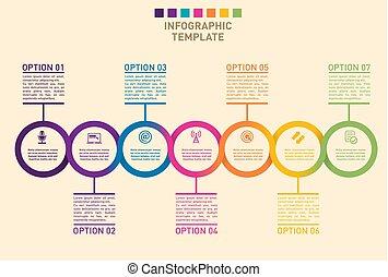 timeline, bemutatás, diagram, előrehalad