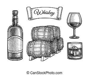 tinta, whiskey., skicc, állhatatos