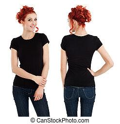 tiszta, black ing, női, nagyszerű