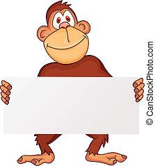tiszta, csimpánz, aláír
