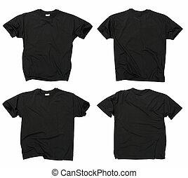 tiszta, fekete, trikó