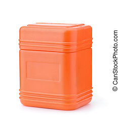 tiszta, konténer, narancs, műanyag