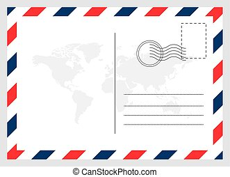 tiszta, levelezőlap, háttér., utazás, kártya, grafikus, modern, elszigetelt, tervezés